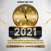 NEW YEARS 2021 PARTY CHURCH FLYER TEMPLATE Pochette d'album