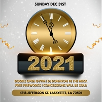 NEW YEARS 2021 PARTY CHURCH FLYER TEMPLATE Album Cover