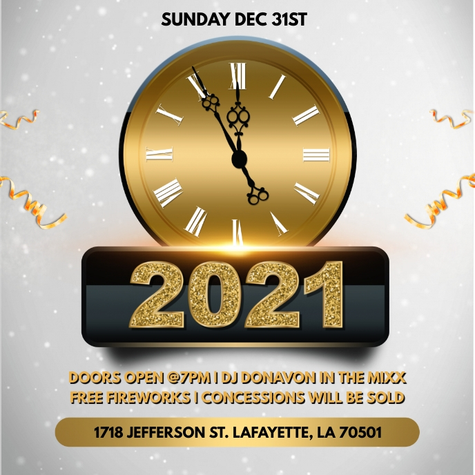 NEW YEARS 2021 PARTY CHURCH FLYER TEMPLATE Sampul Album