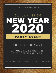 New Years Club Event Party Flyer Template