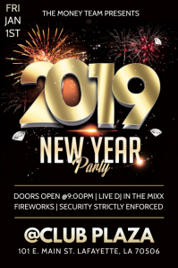 NEW YEARS CLUB FLYER