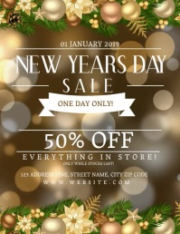 New Years Day Sale Event Flyer Template