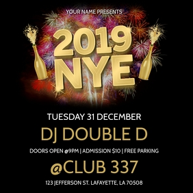 NEW YEARS EVE 2019 GOLD CLUB FLYER