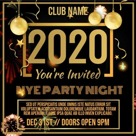 New Years Eve 2020 Party Video Template