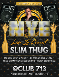 NEW YEARS EVE CONCERT CLUB FLYER TEMPLATE