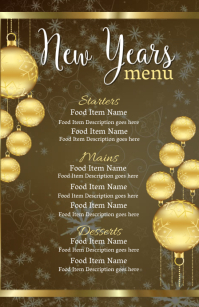New Years Eve Dinner Menu Template