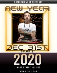 new years eve event flyer VIDEO DIGITAL