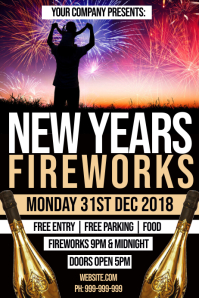 New Years Eve Fireworks Poster
