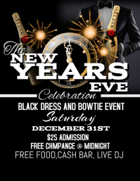 Charming New Years Eve Flyer Intended For Free New Years Eve Flyer Template