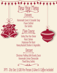 New Years Eve Menu Template
