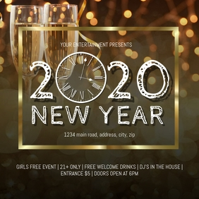 New Years Eve Party Celebration Event Flyer