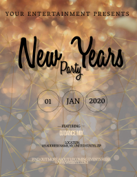 New Years Eve Party Event Flyer Template