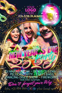 New Years Eve party event poster flyer