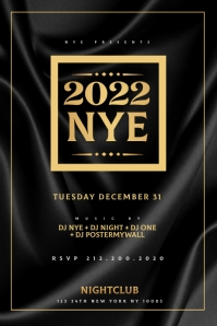New Years Eve Party Flyer Template Cartaz
