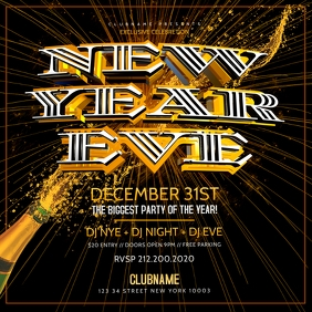 New Years Eve Party instagram Flyer Template