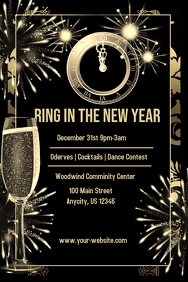 Customizable design templates for new years eve party event new years eve party invite stopboris Gallery