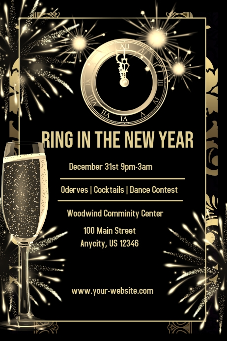 New years eve party invite template postermywall new years eve party invite customize template stopboris Gallery