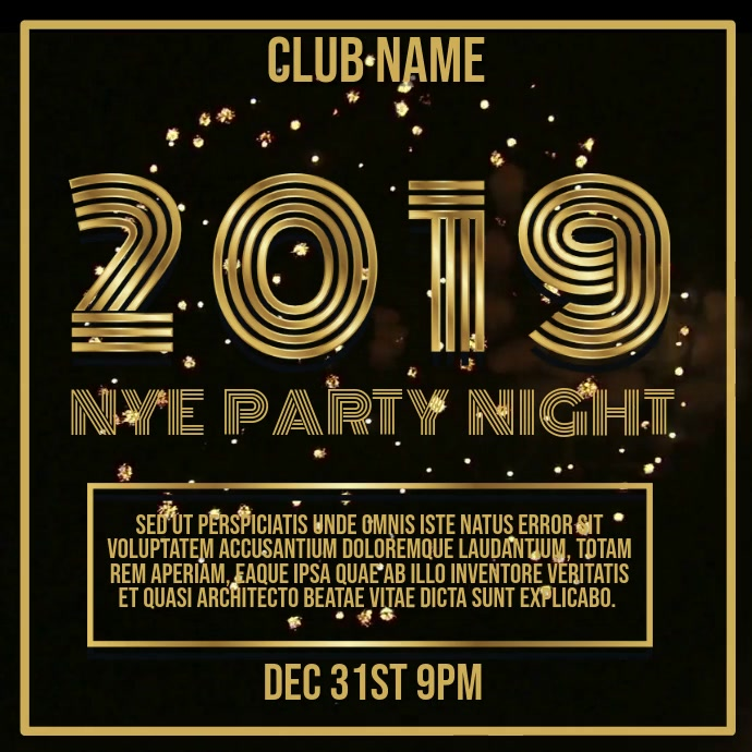 New Years Eve Party Night Video Template