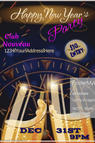 New Years Eve Party Poster