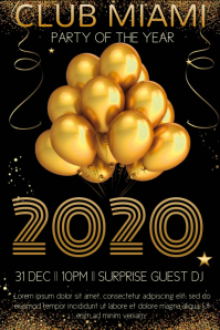 New Years Eve Party Poster Template