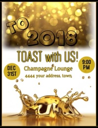 New Years Eve Party Video Flyer