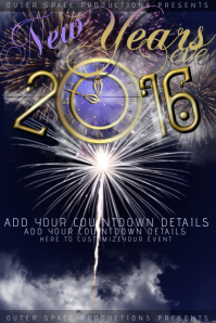 New Years Eve Party Year Fireworks Clock Time Event Galaxy