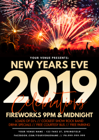 New Years Eve Poster A3 template
