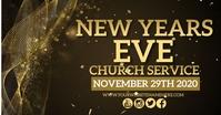 NEW YEARS EVE SERVICE DESIGN TEMPLATE Gedeelde afbeelding op Facebook