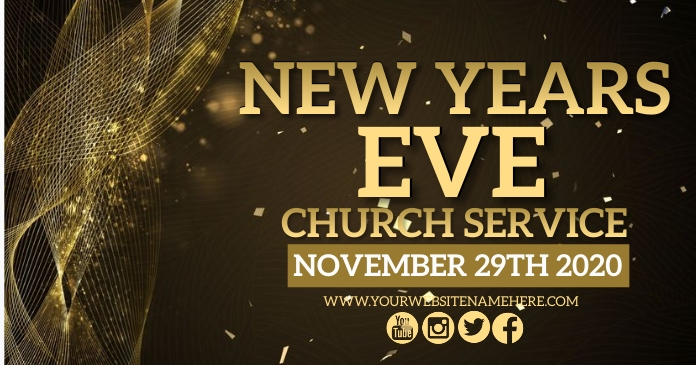 NEW YEARS EVE SERVICE DESIGN TEMPLATE Facebook Shared Image