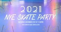 New Years Eve Skate Party Imagen Compartida en Facebook template