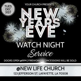 NEW YEARS EVE WATCH NIGHT CHURCH SERVICE