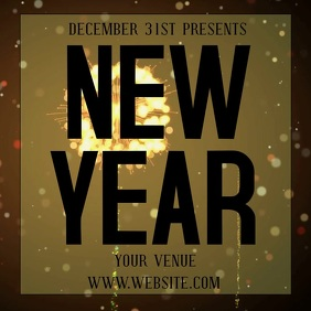 NEW YEARS event ad digital video template