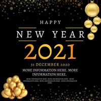 NEW YEARS EVENT AD TEMPLATE Vierkant (1:1)