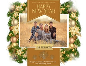 New Years Family Card Template