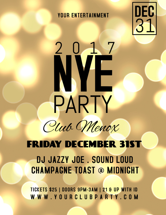 NEW YEARS Pamflet (Letter AS) template