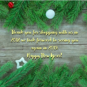 New Years greetings for customers Instagram post