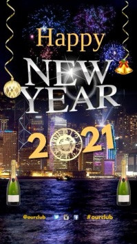 Customizable design templates for happy new year video greeting new years greetings video m4hsunfo