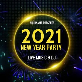 NEW YEARS PARTY AD EVENT SOCIAL MEDIA Instagram 帖子 template
