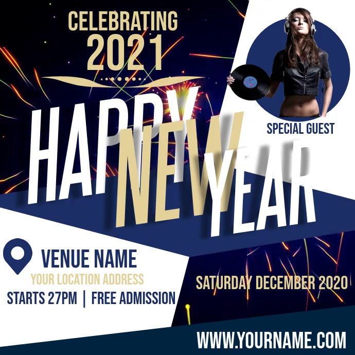 NEW YEARS PARTY AD VIDEO TEMPLATE Ilogo