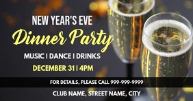 New years party Facebook Event Cover template