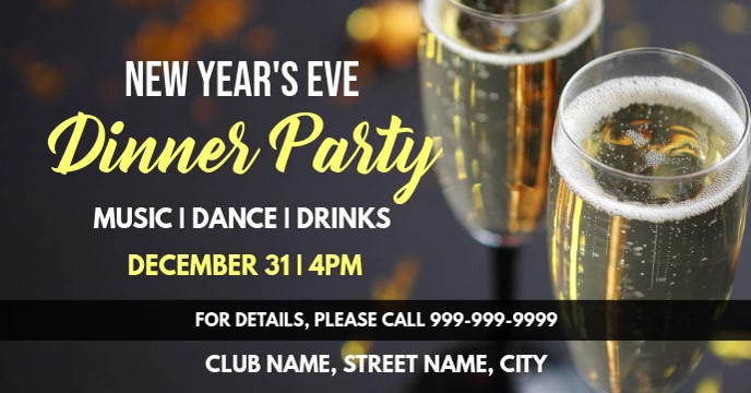 New years party Cover ng Facebook Event template