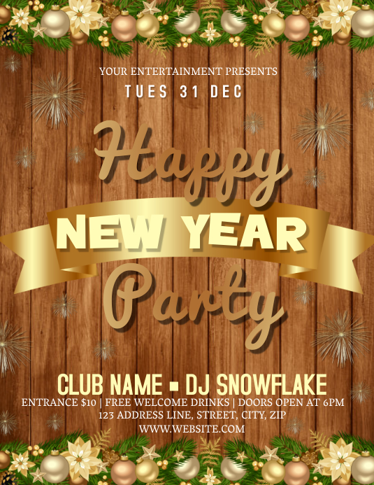 New Years Party Event Flyer Template | PosterMyWall