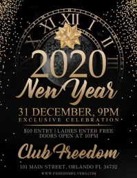 New Years Party Flyer Video