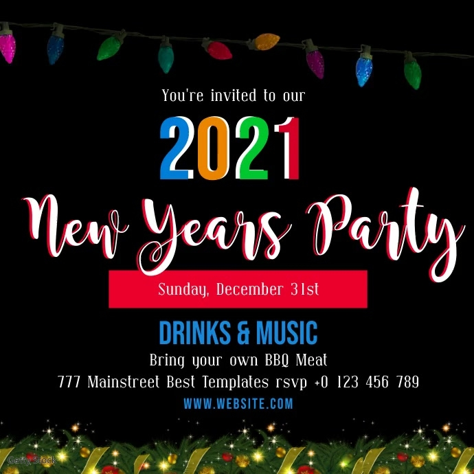 New Years Party Invite Template Postermywall