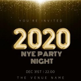 New Years Party Night Event Video Template