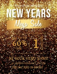 NEW YEARS SALE AD TEMPLATE Flyer (US Letter)