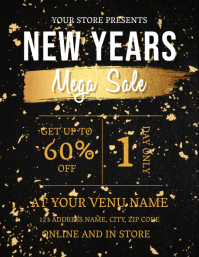 NEW YEARS SALE AD TEMPLATE