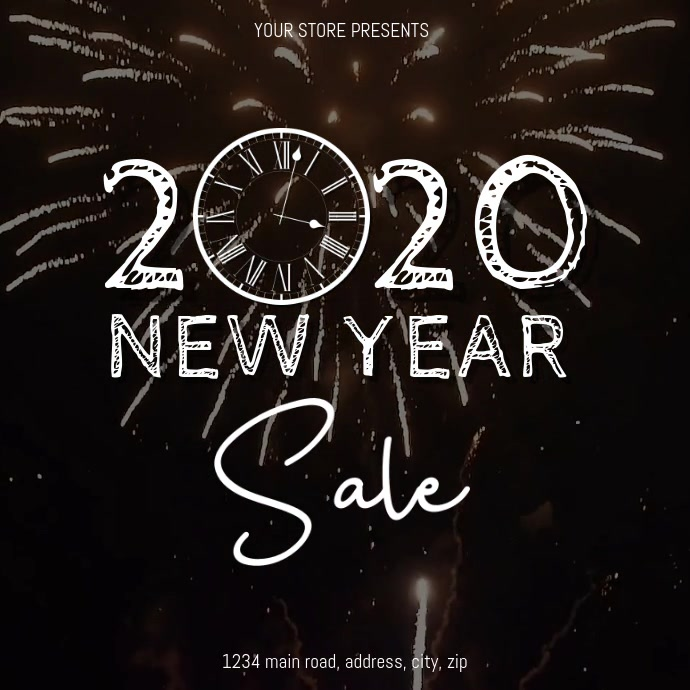 New Years Sale Event Flyer Template