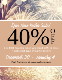 New Years Sale Flyer Template