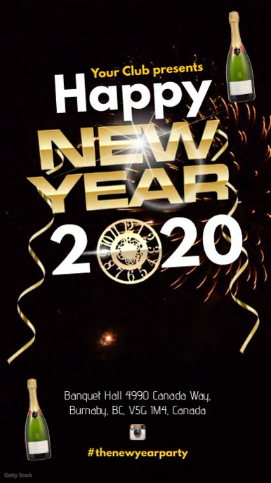 New Years Video Poster